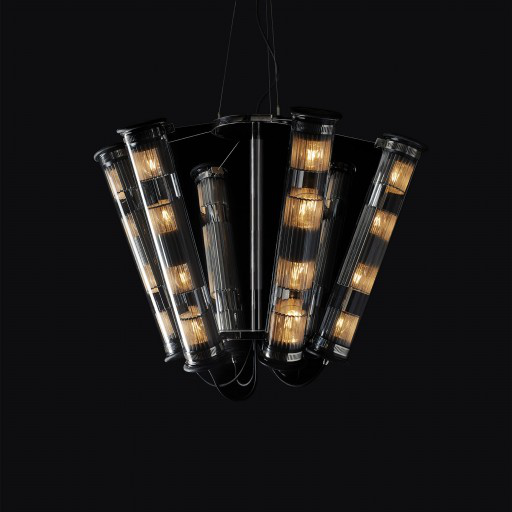 In The Tube chandelier by DCW éditions