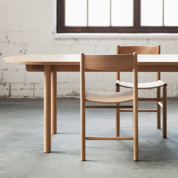 Wooden Acadamia chairs and Basic table by Nikari